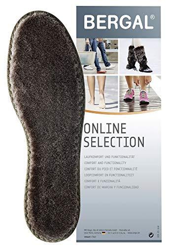 2 Paar Merino Winter Einlegesohlen, Einlage für Schuhe und Stiefel aus 100% Merinowolle, Braun, 41