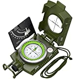 Brújula Proster IP65 con clinómetro profesional militar brújula de metal para camping impermeable con bolsa de transporte para camping, caza, senderismo, actividades geológicas