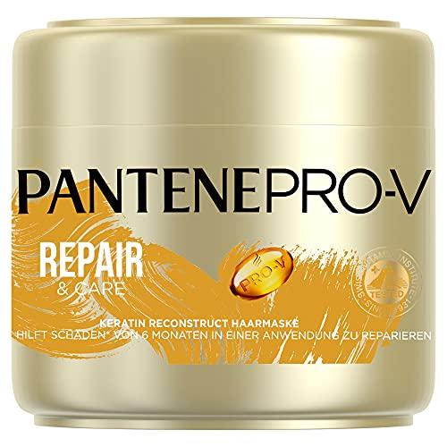 Pantene Pro-V Repair & Care Keratin Reconstruct Haarmaske, 300ml, Haarkur Trockenes Haar, Haarpflege Trockenes Haar, Haarpflege Für Trockene Haare, Haarpflege Glanz, Für...