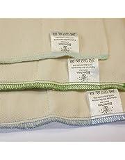 Flores pañales de tela prefold 6pieza algodón orgánico Talla:S