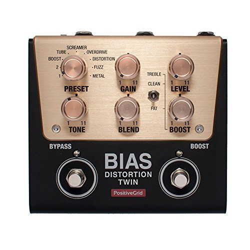 Positive Grid BIAS Distortion Twin Tone Match Distortion Pedal 2 Button ギターエフェクター