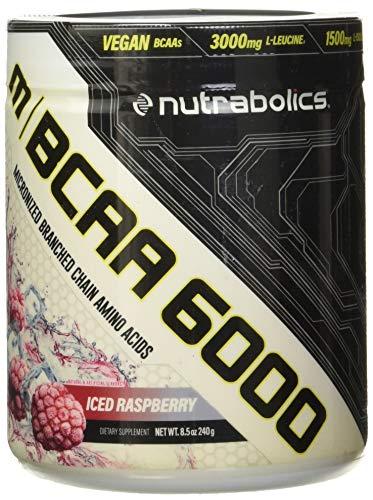 Nutrabolics BCAA 6000 (Flavored Micronized BCAA Powder) Iced Raspberry, 240 g
