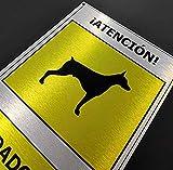 Cartel'cuidado con el perro', aluminio alta calidad para exteriores