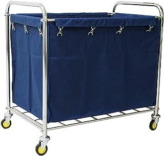 Chariot d'hôpital, support pour fournitures médicales, chariot médical à roulettes, chariot à linge avec poignée, chariot ...