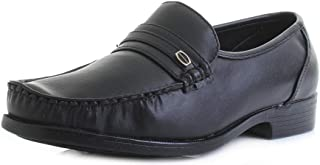 Mens Dexter Comfort Faxton Black Leather Smart Formal Loafers Shoes Size