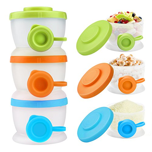 Great Features Of Zooawa Baby Formula Dispenser, Non-Spill Stackable Milk Powder Formula Container a...