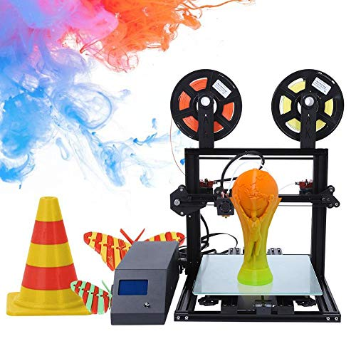 3D-printer, DIY 3D-printer desktop kleurenprinter printer afdrukmaterialen 300x300x10 mm afdrukformaat met 100 mm/s en 0,4 mm mondstukdiameter, 3D-printerkit