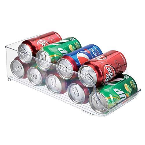 Guilty Gadgets - Cajas de almacenamiento para frigorífico/congelador, organizador de cocina, bandeja de plástico para cajón, armario, despensa, latas de cerveza y refrescos