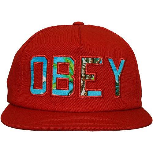 Obey - Casquette Strapback Homme Wharf Hat - Dark Red