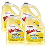 SC Johnson Professional, Windex Multi-Surface & Disinfectant Sanitizer Cleaner Refill, 1 gallon (Pack of 4)