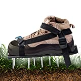 GEERTOP Lawn Aerator Shoes with Spikes Heavy Duty Buckles for Effectively Aerating Lawn Soil in Yard Patio Lawn Garden