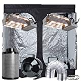 "TopoGrow Hydroponics Grow Tent Complete Kit 96""X48""X80"" Indoor Grow Tent, 2 630W CMH Grow Light Kit , 8""Ventilation Kit"