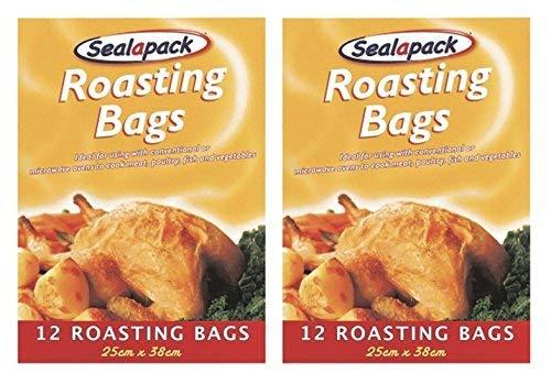 24 x Sealapack vleesbraatzakken voor kalkoen, kip, voor in de oven, 25 x 38 cm
