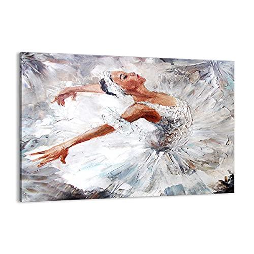 Cuadro sobre lienzo - Impresión de Imagen - Mujer danza ballet cuerpo - 120x80cm - Imagen Impresión - Cuadros Decoracion - Impresión en lienzo - Cuadros Modernos - Lienzo Decorativo - AA120x80-3101