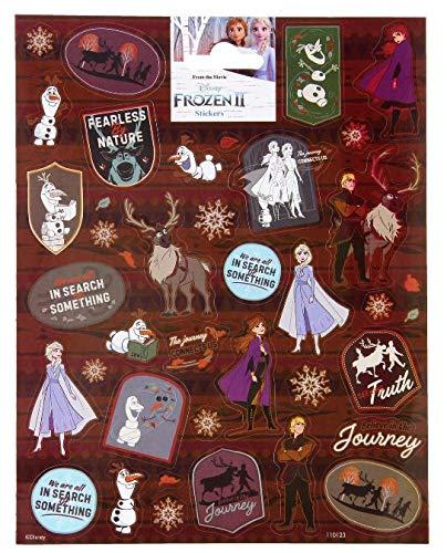 TrendyMaker Adhesivos para Diario, Libro de Amigos, Bolsas Escolares, Calendario de adviento, Recuerdos, diseño de Frozen de Disney