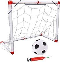 æ— Kids Mini Voetbal Goal Set - Indoor Outdoor Mini Kinderen Voetbal Goal Post Net Set met Ball Pump - Draagbare Opvouwbare Voetbal Goal Set 50x45cm