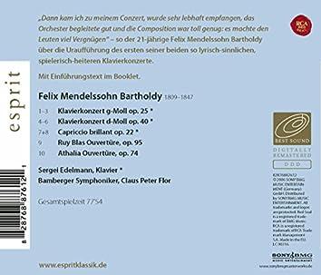 Mendelssohn Bartholdy: Klavierkonzerte Nr. 1+2