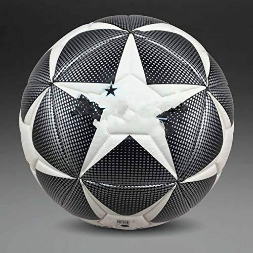 BECCYYLY Balón de fútbol + estándar de fútbol de poliuretano, tamaño oficial 5 y tamaño 4