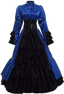 blue gothic dress