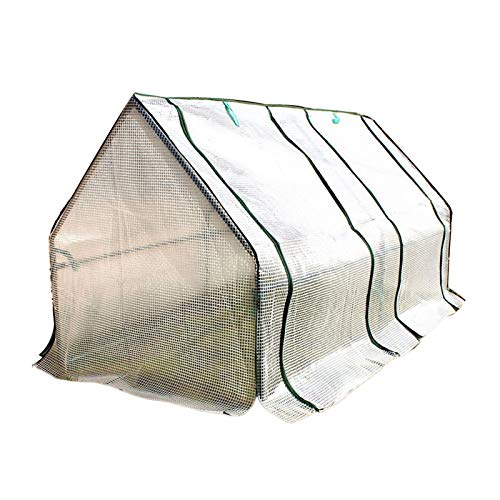 Greenhouse Tent, Plant Growth Room, Portable Flower Tomato Vegetable Garden, Backyard Greenhouse Cover with Zipper, White, 180×100×100cm (Size : 180×100×100cm)