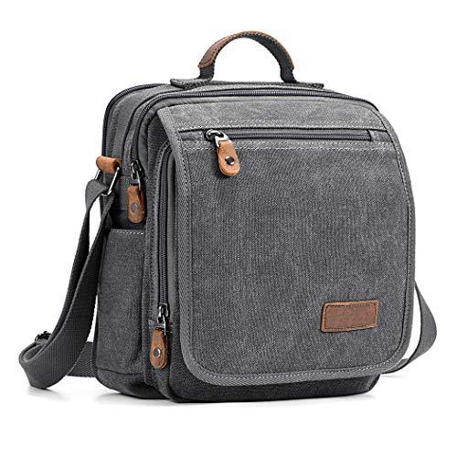 Fanspack Canvas Umhängetasche Handtasche Herren Schultertasche Business Tasche Aktentasche Shopper Tasche für Arbeit Schule Reise