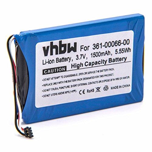 vhbw batería reemplaza Garmin 361-00066-00 para navegador (1500mAh, 3,7V, Li-Ion)