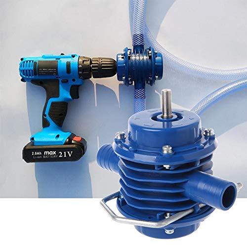 LSGD Elektrische Bohrwasserpumpe, tragbare selbstansaugende Miniatur-kleine hochtemperaturbeständige Korrosionszentrifugen-Wasserpumpe für den Gartenhof