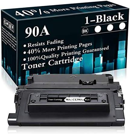 1 Black 90A CE390A Toner Cartridge Replacement for HP Laserjet Enterprise 600 Printer M601n product image