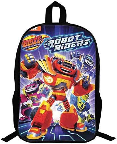 Blaze - Borsa per la scuola per bambini, modello Cartoon Racing (S9,13 pollici)