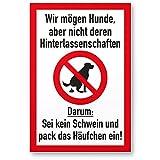 Kein Hundeklo/Keine Hundetoilette (weiß-rot) - Kunststoff thumbnail