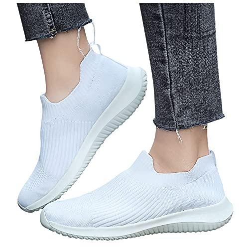 Dasongff Damen Laufschuhe Sneaker Sport Laufen Frauen Outdoor Mesh Sneaker Canvas Flache Schuhe Damen Beiläufige Sportschuhe Jogging Atmungsaktive Weicher Schuhen Sommer Herbst Turnschuhe