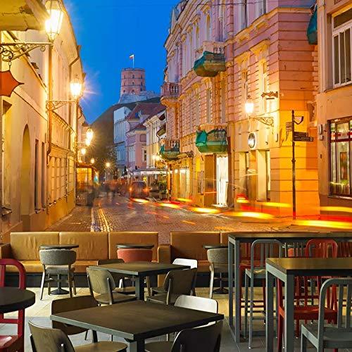 Papel tapiz fotográfico personalizado, murales de calle de la ciudad europea, restaurante, café, sala de estar, fondo, pintura de pared, sala de estar, decoración del hogar