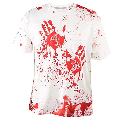Hztyyier Camisas Hawaianas Florales para Hombre Camisetas Estampadas con Cuello Redondo Camisa de Manga Corta de Estilo Informal con Estilo Informal Suelto(M-DX010016)