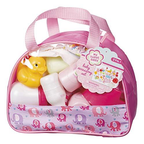 Toysmith 69928 Pretend Doll Baby Care Set Newborn Accessory Role Pl