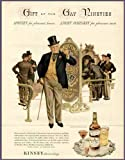Gay Nineties Artwork in 1944 Kinsey Blended Whiskey AD Original Paper Ephemera Authentic Vintage Print Magazine Ad/Article