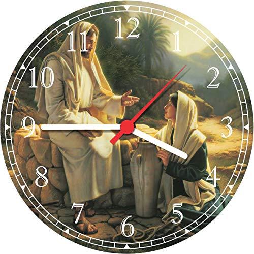 Relógio De Parede Jesus Cristo e Maria Religiosidade Decorações Quartz T004