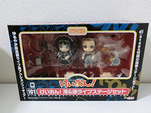 K-ON! Mio & Ritsu Live Stage Ver. Nendoroid Action Figure Set [Wonder Festival 2010 Winter Limited]