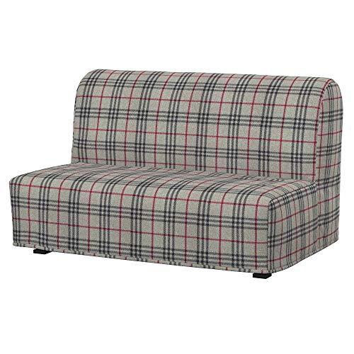 Soferia - Funda para sofá cama de Ikea LYCKSELE 2, tejido Stewart Grey Master