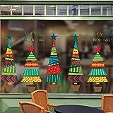 Pegatinas De Pared Coloridas Para Macetas De Árboles De Navidad Para Tienda, Decoración Del Zócalo Del Hogar, Temporada De Festivales De Navidad, Calcomanías Para Ventanas, Póster