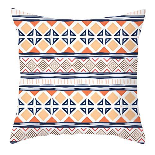 R1vceixowwi Funda de cojín nórdica, bohemia, multicolor, geométrica, de poliéster, algodón, lino, funda de cojín decorativa, juego para sofá