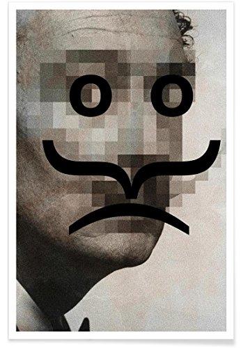 Juniqe® Affiche 60x90cm Pop Art Salvador Dali - Design Retro Pop Emoticons Salvador (Format : Portrait) - Poster, Tirages d'art & Tableaux par des Artistes indépendants créé par Butcher Billy
