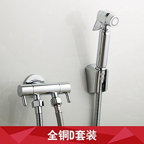 GFEI toutes les toilettes ou d'arrosage ou cuivre main multifonctionnelle pistolet ménages nettoyage,double contrôle,5 pièces,d
