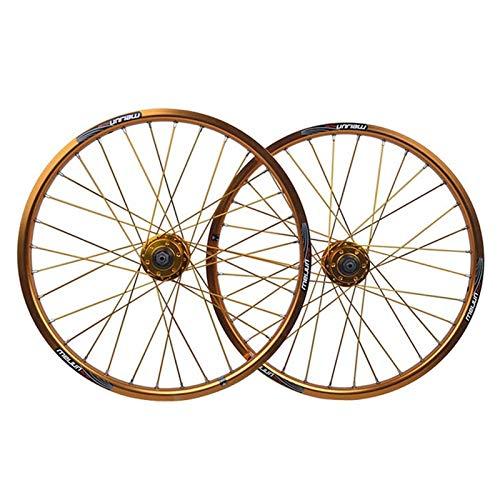 20 Zoll BMX Fahrradfelge Fahrrad Laufradsatz Double Layer Alufelge Scheibenbremse Schnelle Veröffentlichung 8 9 10 Geschwindigkeit 32H (Color : Black)