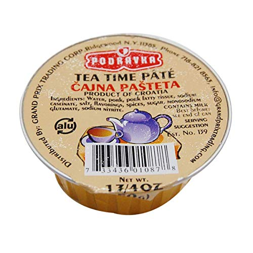 Tea Time Pate 50g Podravka 30 case pack By: Egourmet