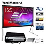 Elite Screens Yard Master 2, 100 inch Outdoor Projector Screen with Stand 16:9, 8K 4K...