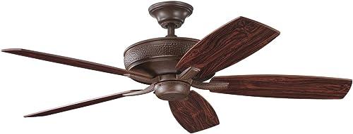 lowest Kichler outlet online sale 339013TZ 52-Inch new arrival Monarch II Fan, Tannery Bronze online sale