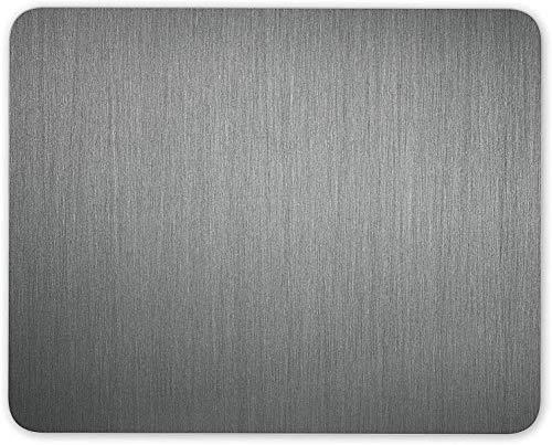 N\A Alfombrilla de ratón, Alfombrilla de ratón Gris Oscuro de Color Grafito Ombre - Metal Regalo de computadora en Escala de Grises