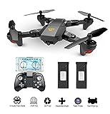 MKT XS809 Pliable Drone FPV WiFi Mini Quadcopter VR Télécommande HD en Direct Caméra (2MP...