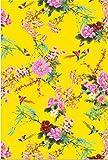 Papel Décopatch No. 750 Pack de 20 hojas (395 x 298 mm, ideal para papmachés) amarillo, pájaro y flo...