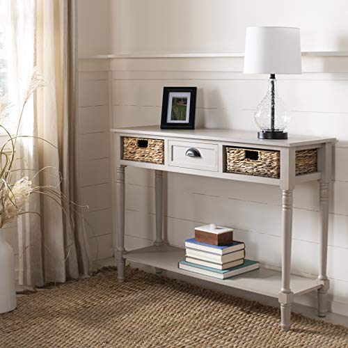 Safavieh American Homes Collection Christa Distressed Black Storage Console...